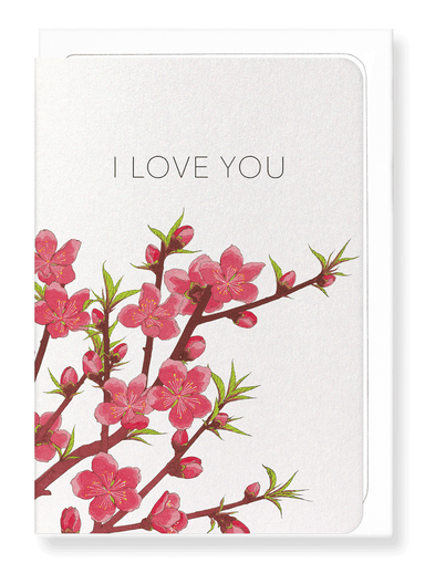 Ezen Designs - Peach blossom of love - Greeting Card - Front