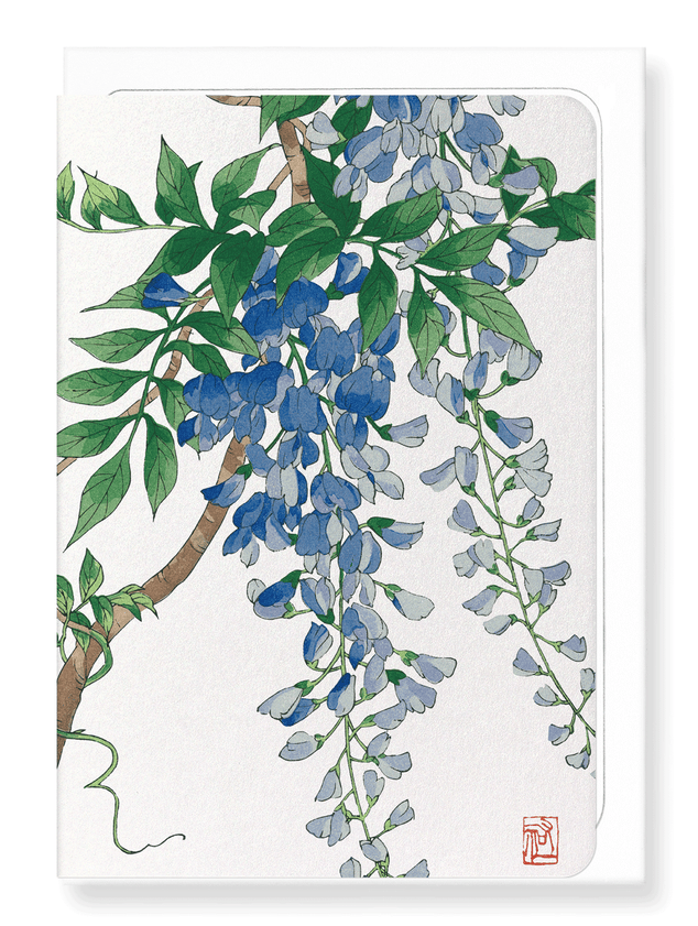 Ezen Designs - Blue wisteria - Greeting Card - Front