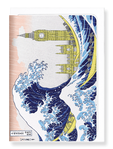 Ezen Designs - Great wave of london - Greeting Card - Front