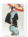 Ezen Designs - Beauty with umbrella - Greeting Card - Front
