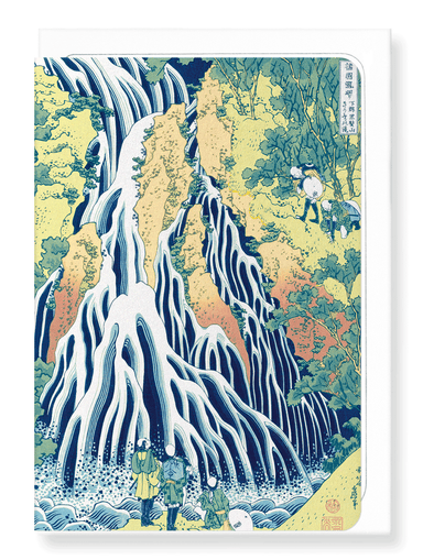 Ezen Designs - Falling mist waterfall - Greeting Card - Front