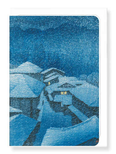 Ezen Designs - Shiobara in snowstorm - Greeting Card - Front