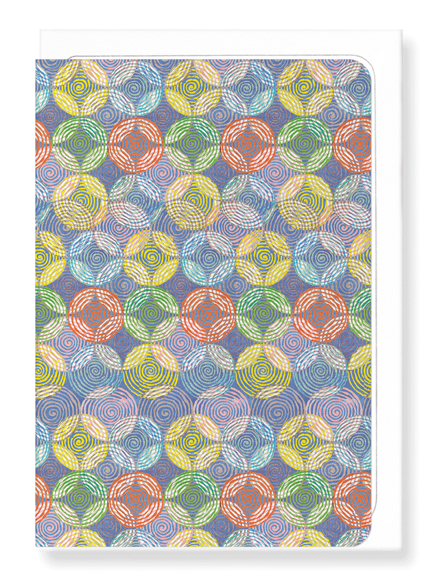 Ezen Designs - Circles of colours - Greeting Card - Front
