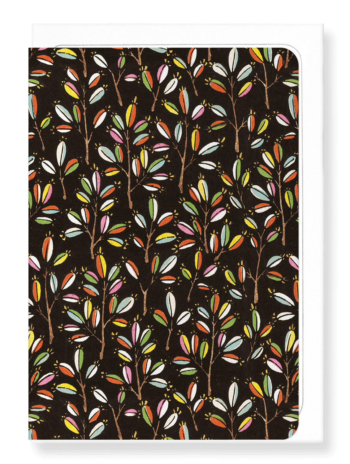 Ezen Designs - Colourful branches - Greeting Card - Front