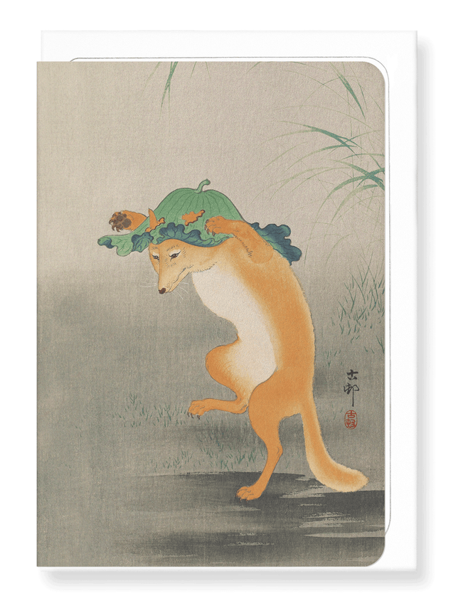 Ezen Designs - Dancing fox - Greeting Card - Front