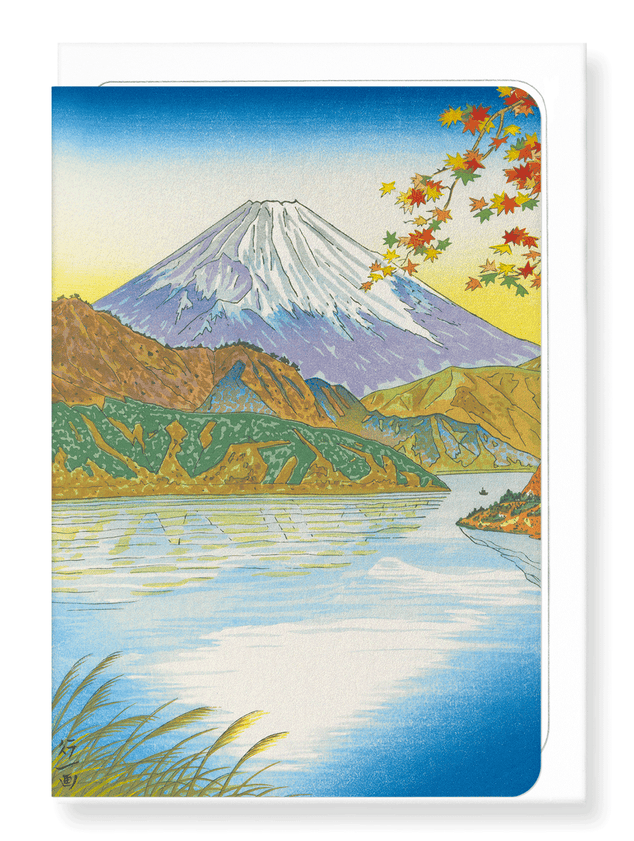 Ezen Designs - Mount fuji and lake ashi - Greeting Card - Front
