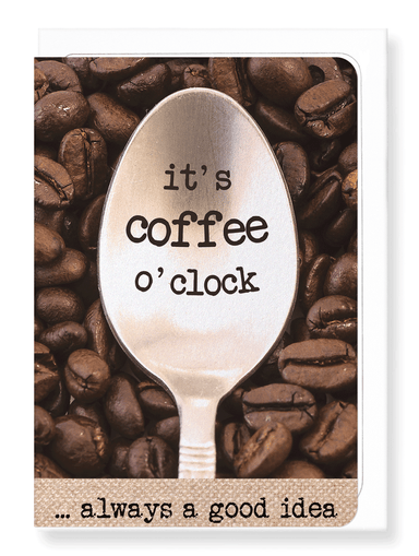 Ezen Designs - Coffee O'clock - Greeting Card - Front