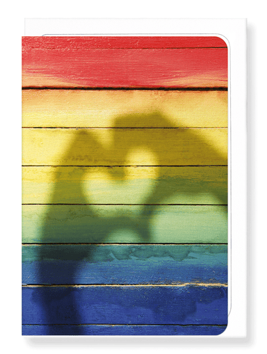 Ezen Designs - Rainbow heart - Greeting Card - Front
