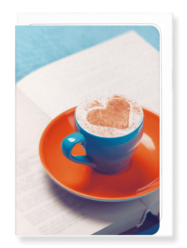 Ezen Designs - Coffee and book - Greeting Card - Front