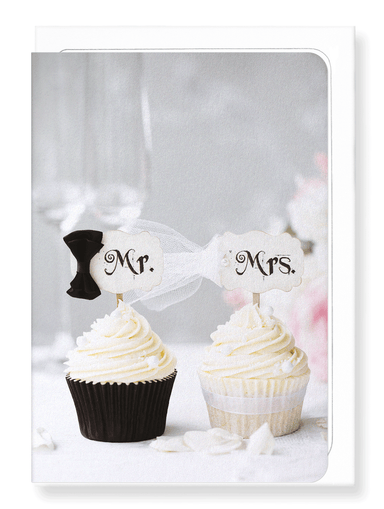 Ezen Designs - Mr & mrs cupcake - Greeting Card - Front