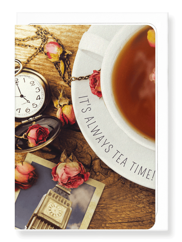 Ezen Designs - British afternoon tea - Greeting Card - Front