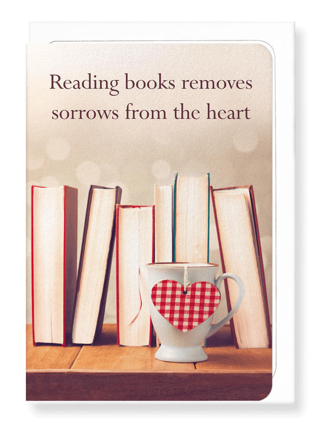 Ezen Designs - Reading for the heart - Greeting Card - Front