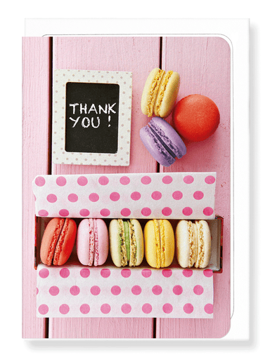 Ezen Designs - Thank you macaron - Greeting Card - Front
