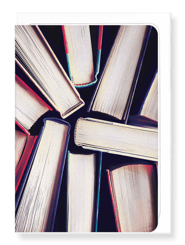 Ezen Designs - Snapshot of books - Greeting Card - Front