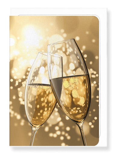 Ezen Designs - Champagne cheers - Greeting Card - Front