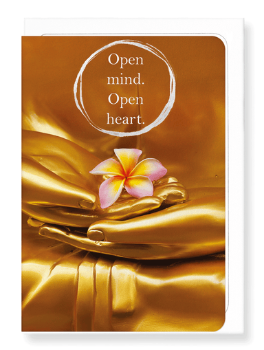 Ezen Designs - Flower and buddha - Greeting Card - Front