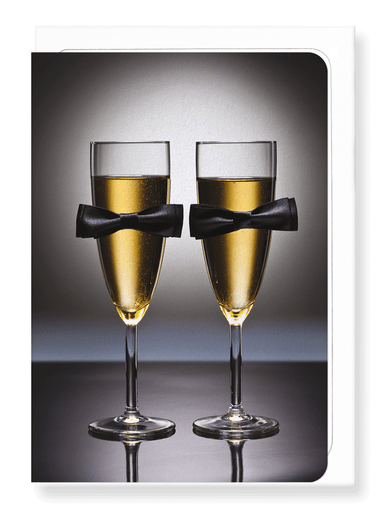 Ezen Designs - Bow tie champagne - Greeting Card - Front