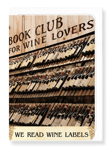 Ezen Designs - Wine label book club - Greeting Card - Front