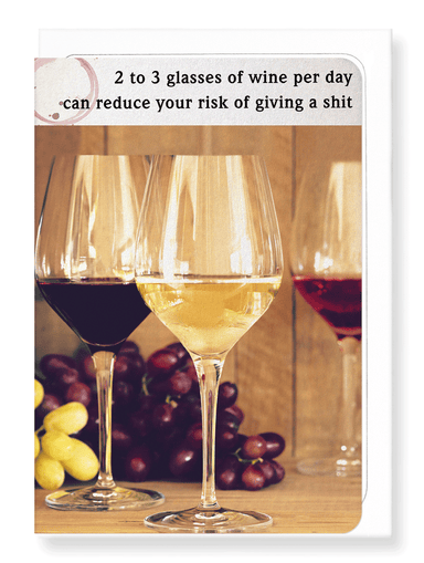 Ezen Designs - Glass to not give a shit - Greeting Card - Front