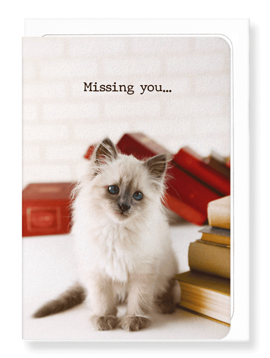 Ezen Designs - Missing you: kitten - Greeting Card - Front
