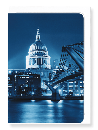 Ezen Designs - St paul's lit at night - Greeting Card - Front