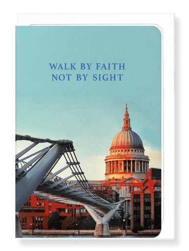 Ezen Designs - Faith not by sight - Greeting Card - Front