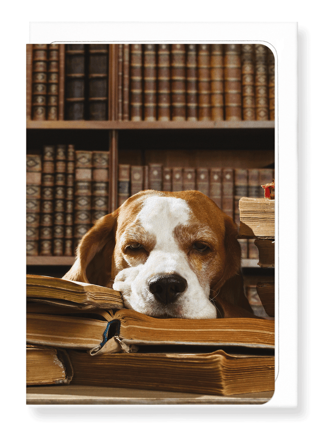Ezen Designs - Dog of literature - Greeting Card - Front