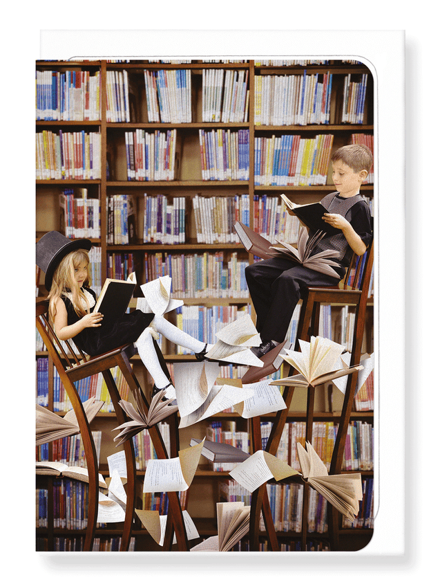 Ezen Designs - Children and books - Greeting Card - Front
