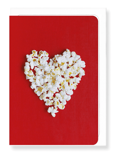 Ezen Designs - Popcorn heart - Greeting Card - Front