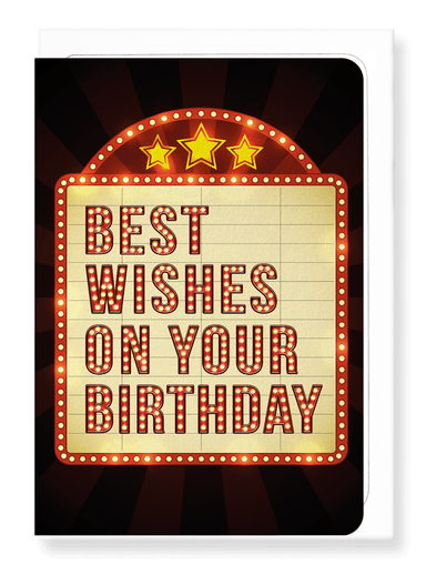 Ezen Designs - Movie birthday wishes - Greeting Card - Front