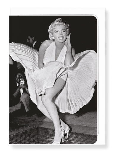 Ezen Designs - Marilyn's flying skirt - Greeting Card - Front