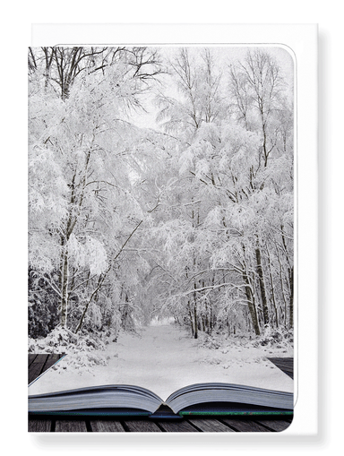 Ezen Designs - Literary winter wonderland - Greeting Card - Front