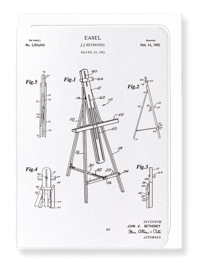 Ezen Designs - Patent of easel (1967) - Greeting Card - Front