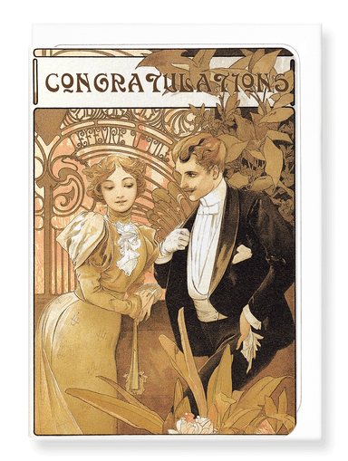 Ezen Designs - Mucha congratulations - Greeting Card - Front