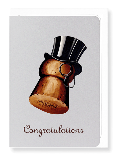 Ezen Designs - Congratulations top hat - Greeting Card - Front