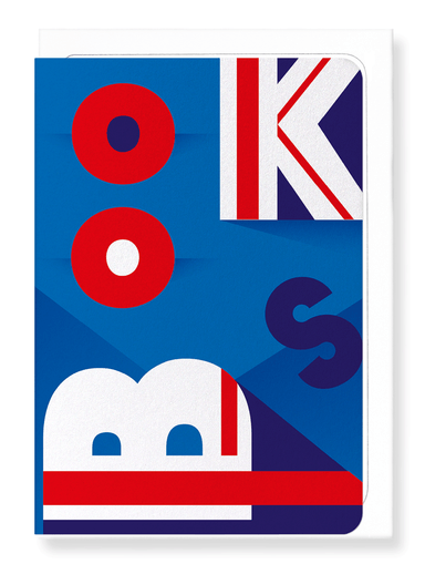 Ezen Designs - Union jack books - Greeting Card - Front
