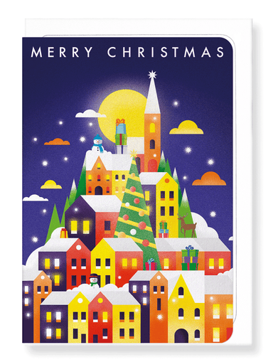 Ezen Designs - Christmas snow city - Greeting Card - Front
