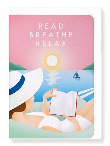 Ezen Designs - Read breathe relax - Greeting Card - Front