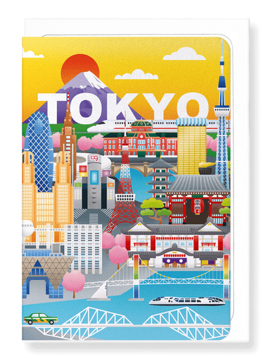 Ezen Designs - Dream city Tokyo - Greeting Card - Front