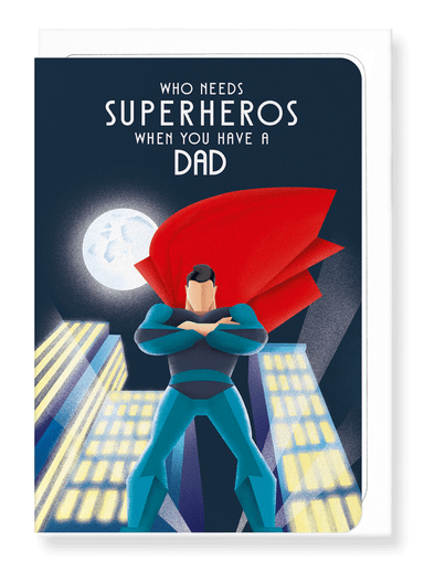 Ezen Designs - Dad Superhero - Greeting Card - Front