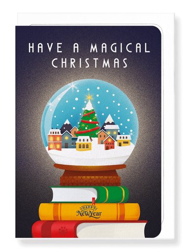 Ezen Designs - Magical Christmas globe - Greeting Card - Front