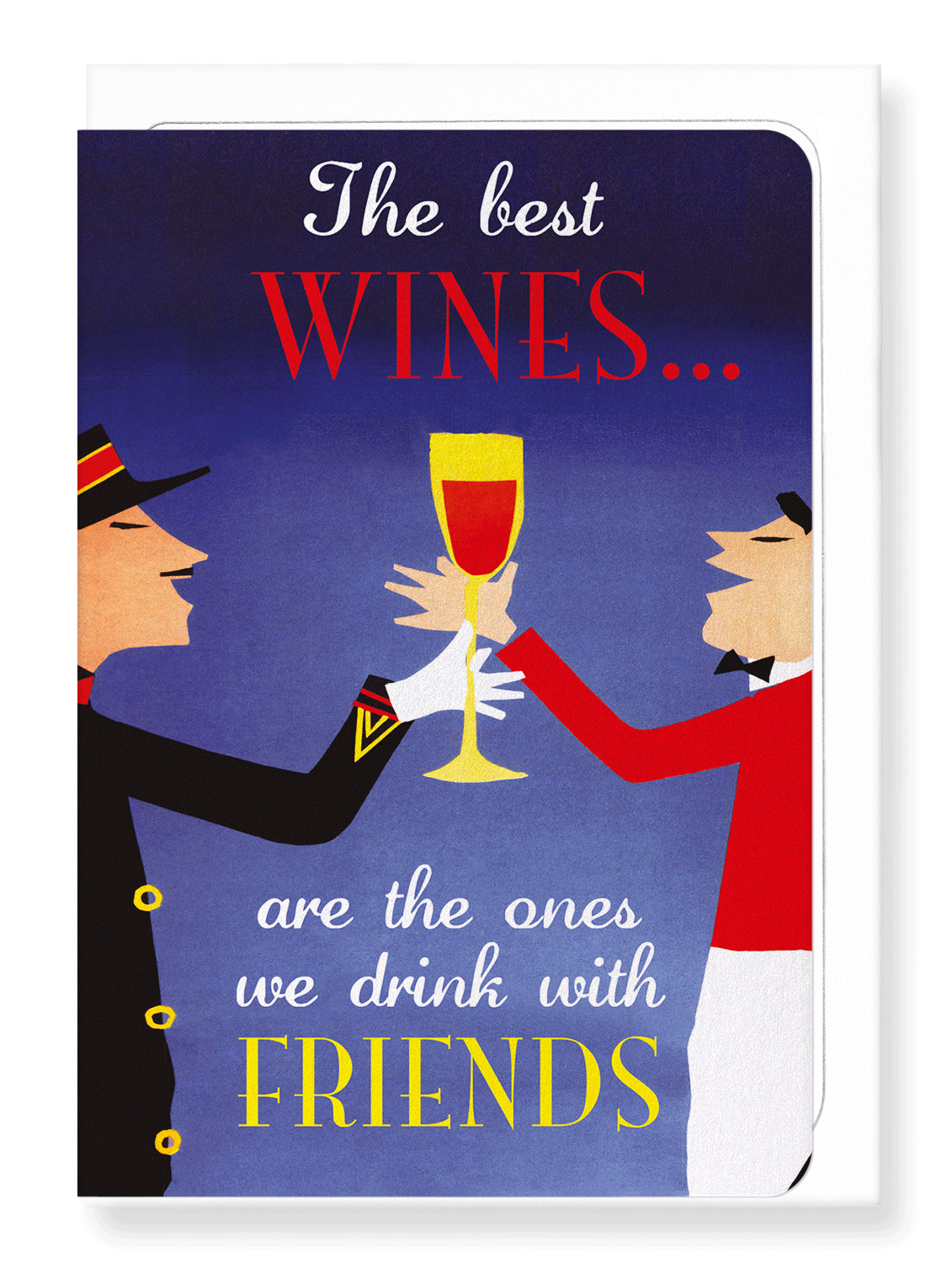 Ezen Designs - Wine with friends - Greeting Card - Front