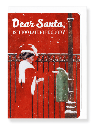 Ezen Designs - Dear santa - too late? - Greeting Card - Front