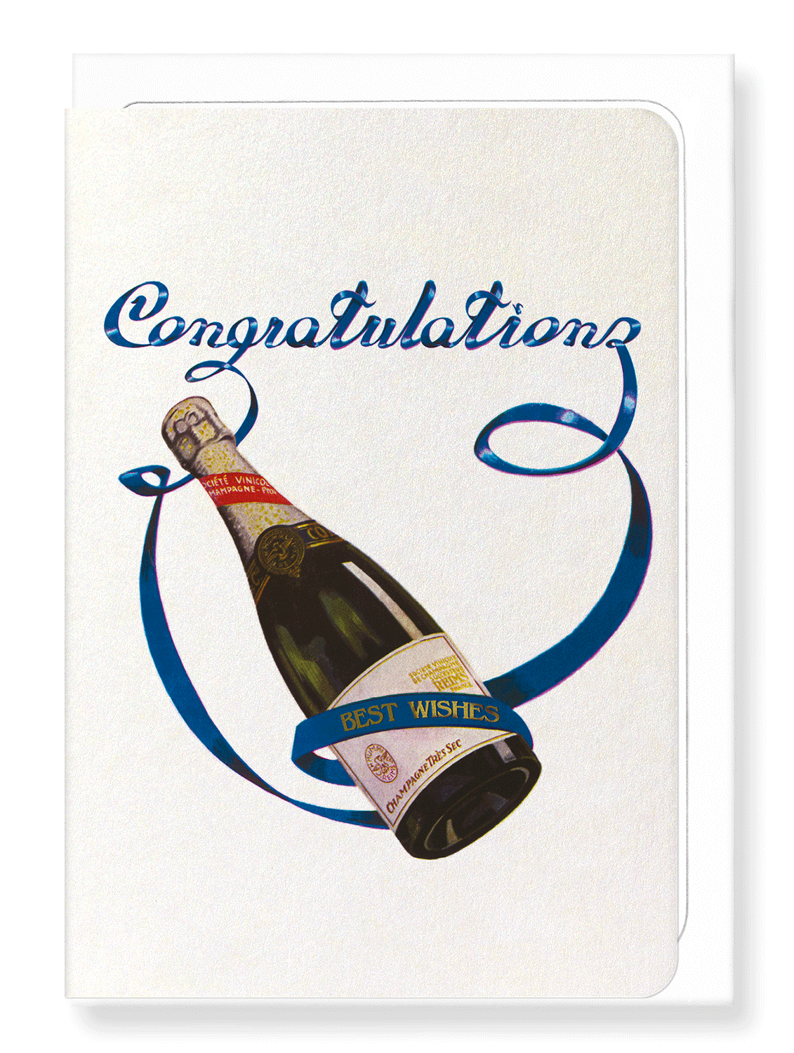 Ezen Designs - Champagne congratulations - Greeting Card - Front