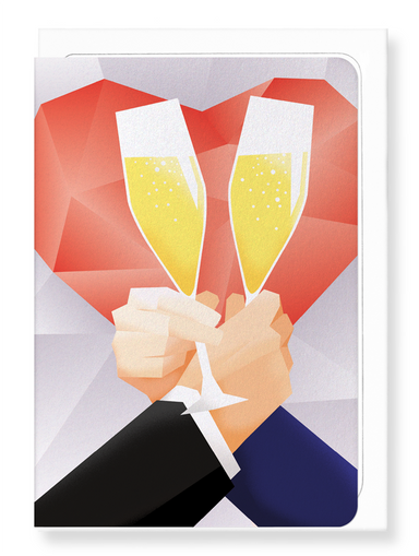 Ezen Designs - Toast of mr and mr - Greeting Card - Front