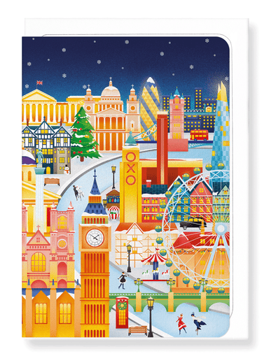 Ezen Designs - London festive winter - Greeting Card - Front