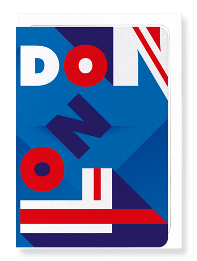 Ezen Designs - London union jack - Greeting Card - Front