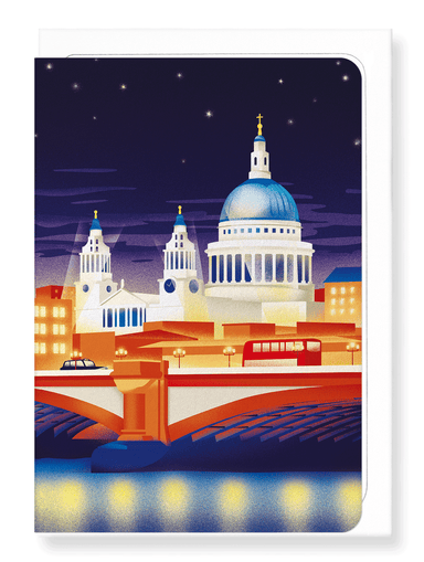 Ezen Designs - St paul's at night - Greeting Card - Front