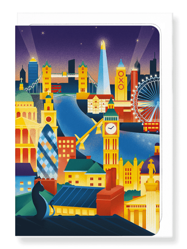 Ezen Designs - London at night - Greeting Card - Front