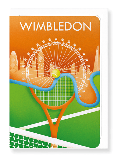 Ezen Designs - Wimbledon tennis - Greeting Card - Front